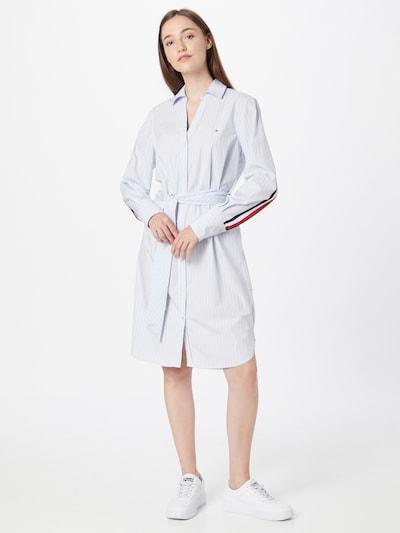 TOMMY HILFIGER Kleid 'MONICA' in hellblau / weiß, Modelansicht