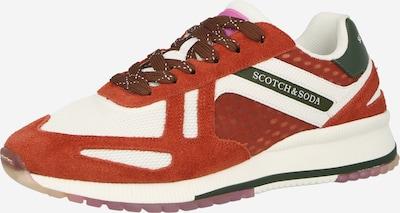 Sneaker low 'Vivex' SCOTCH & SODA pe maro ruginiu / verde închis / alb, Vizualizare produs