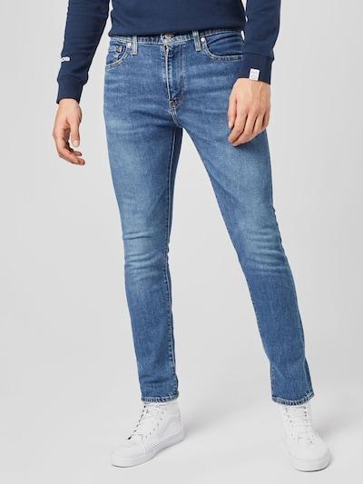 LEVI'S Jeans '510' in de kleur Blauw denim, Modelweergave