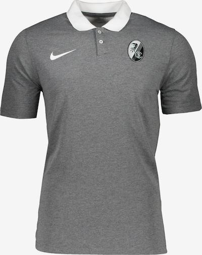 NIKE Poloshirt in graumeliert / weiß, Produktansicht
