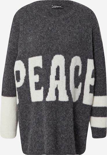 Grace Pull-over en gris chiné / blanc, Vue avec produit