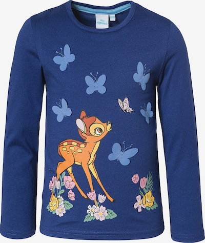 DISNEY Shirt 'Bambi' in marine / rauchblau / braun, Produktansicht
