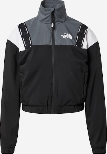 THE NORTH FACE Sportiacke in grau / schwarz / weiß, Produktansicht