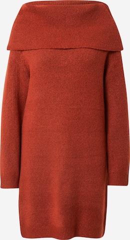 VILA Knit dress 'FLINKA' in Brown