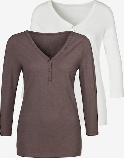 VIVANCE T-shirt en marron / blanc, Vue avec produit