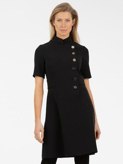 APART Etuikleid mit asymmetrischem Verschluss in schwarz, Modelansicht
