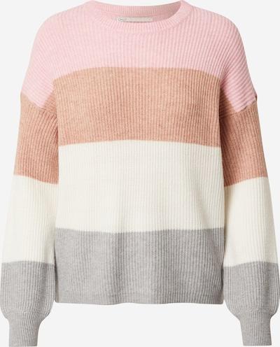 ONLY Pulover | rjava / siva / roza / bela barva, Prikaz izdelka