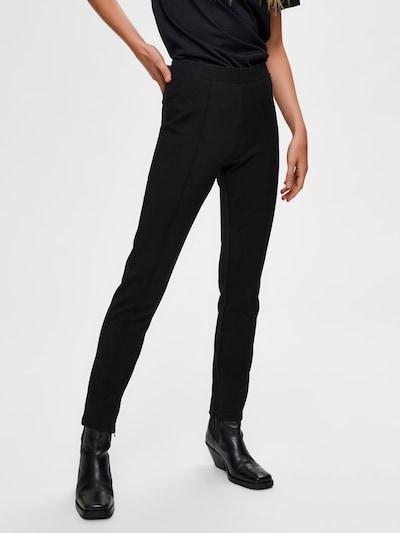 SELECTED FEMME Hose in schwarz, Modelansicht