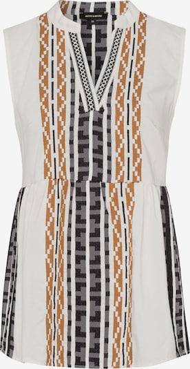 Bluză MORE & MORE pe maro caramel / gri piatră / negru / alb murdar, Vizualizare produs