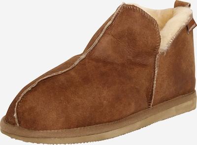 SHEPHERD OF SWEDEN Pantoufle 'ANTON' en marron, Vue avec produit