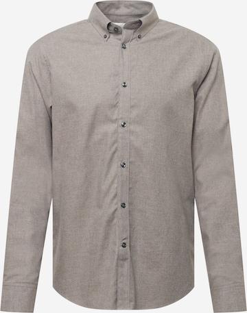 Camicia 'Haldo' di Oscar Jacobson in beige