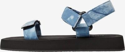 VIOLETA by Mango Sandalette 'Cabana-I' in rauchblau / schwarz / weiß, Produktansicht