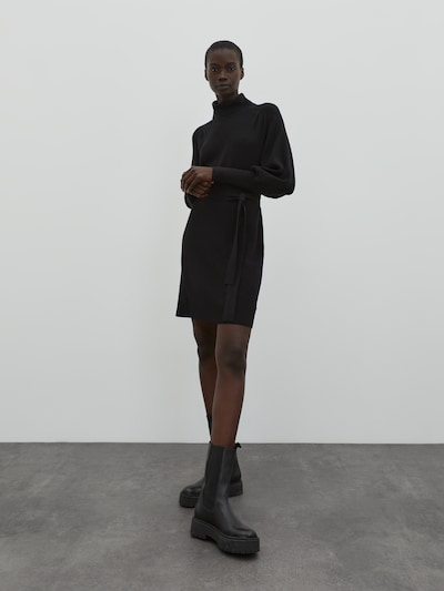 EDITED Úpletové šaty 'Malene' - černá, Model/ka