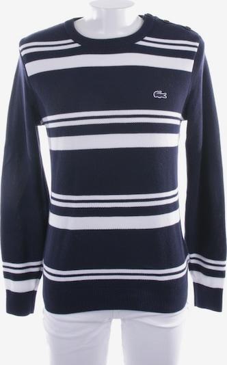 LACOSTE Pullover  in S in dunkelblau / weiß, Produktansicht