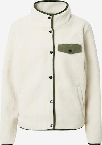 Superdry Fleece Jacket in White