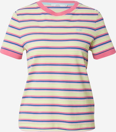 Tricou EDC BY ESPRIT pe albastru / limetă / roz, Vizualizare produs