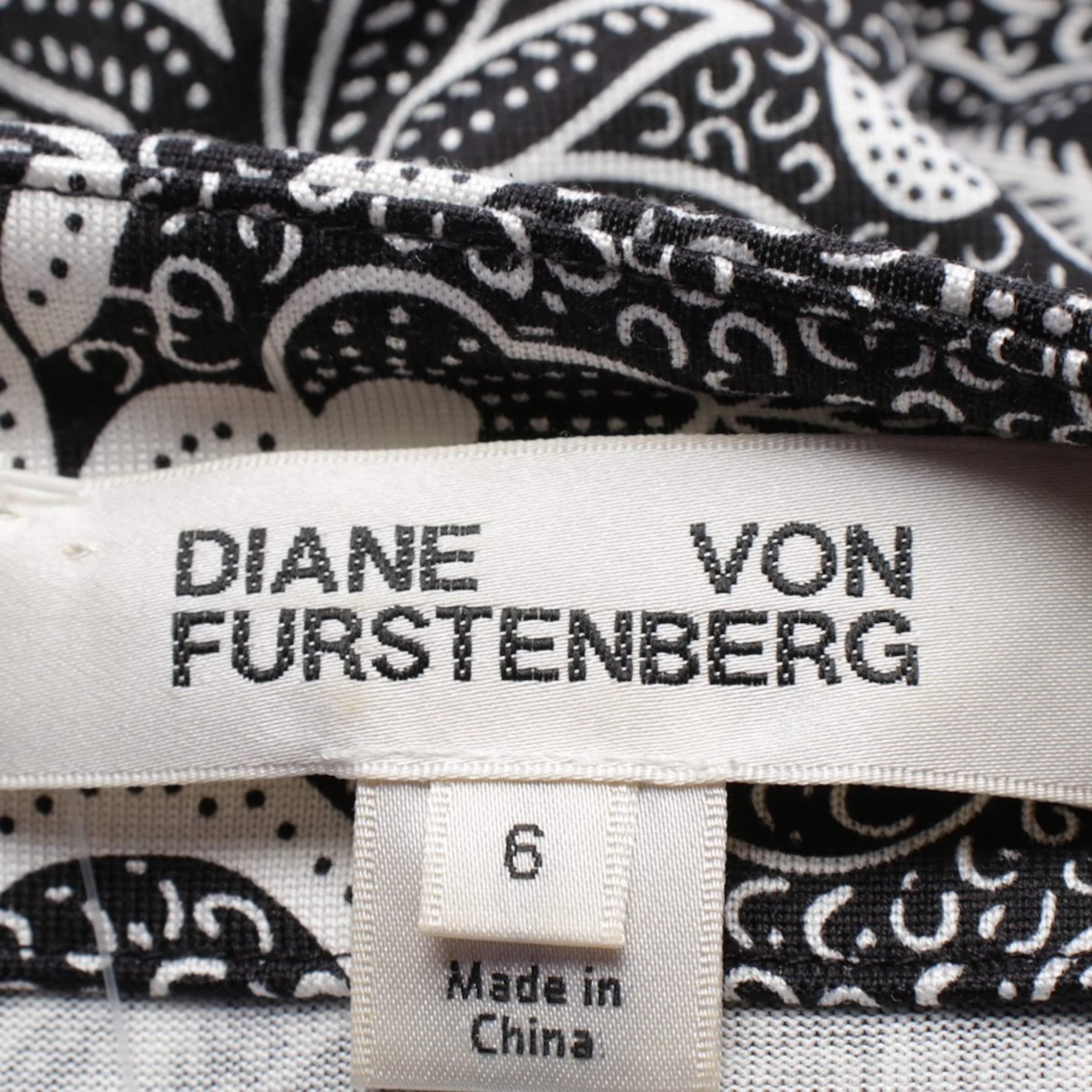 Diane von Furstenberg Seidenkleid in 36 in schwarz / weiß
