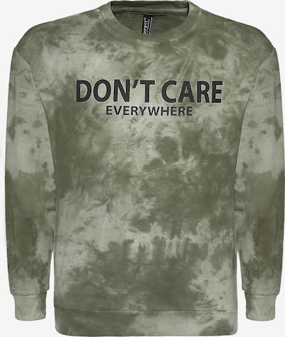 BLUE EFFECT Sweater majica 'Don't Care' u svijetlozelena / tamno zelena / crna, Pregled proizvoda