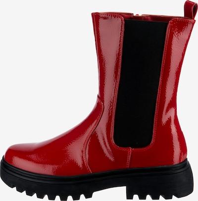 ambellis Chelsea Boot in rot / schwarz, Produktansicht