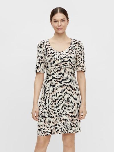 MAMALICIOUS Šaty 'Ginger' - krémová / svetlobéžová / čierna, Model/-ka