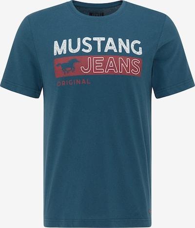 MUSTANG T-Shirt in blau / rot / weiß, Produktansicht