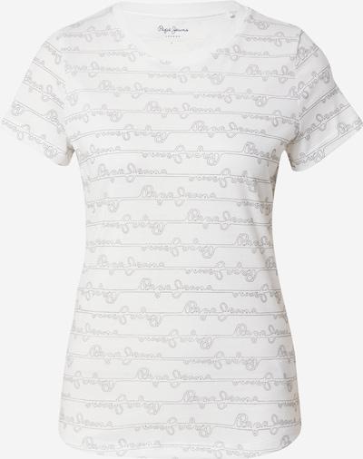 Tricou 'CECILE' Pepe Jeans pe gri bazalt / alb: Privire frontală