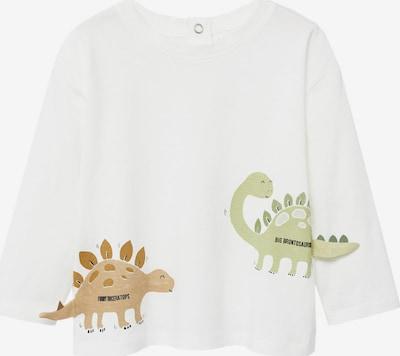 Tricou 'DINO' MANGO KIDS pe bej / verde pastel / negru / alb, Vizualizare produs