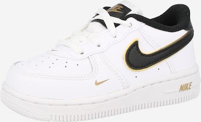Nike Sportswear Brīvā laika apavi 'Force 1', krāsa - Zelts / melns / balts, Preces skats