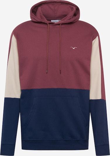 Cleptomanicx Sweatshirt 'Doust' in beige / navy / dunkelrot, Produktansicht