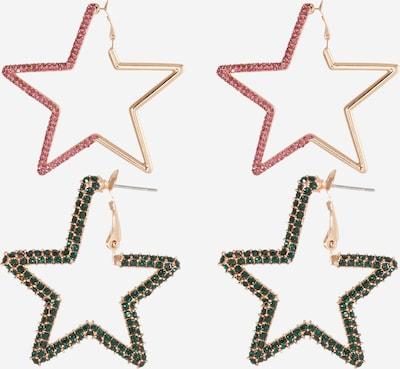 Essentiel Antwerp Boucles d'oreilles 'Zortago' en or / vert / rose, Vue avec produit