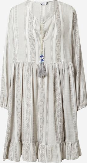 Zwillingsherz Kleid 'Nala' in graumeliert / weiß, Produktansicht