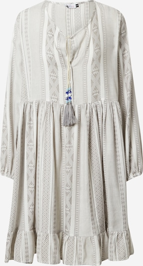 Zwillingsherz Robe-chemise 'Nala' en gris chiné / blanc, Vue avec produit