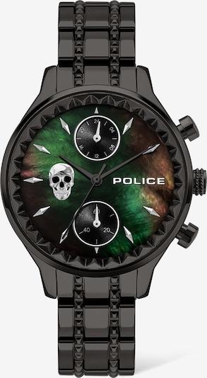 POLICE Uhr in grün / orange / schwarz / silber, Produktansicht