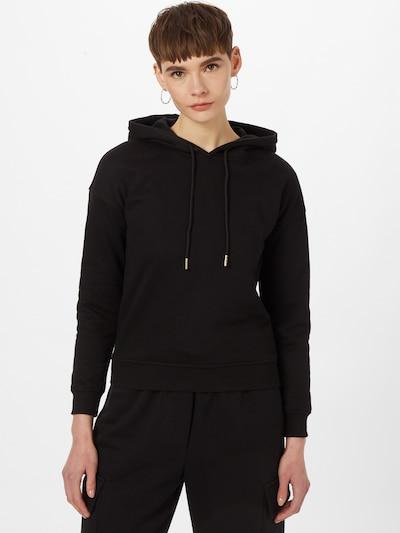 Urban Classics Sweat-shirt en gris chiné / noir: Vue de face