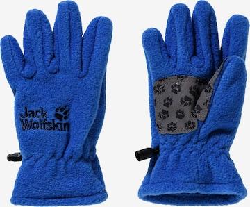 JACK WOLFSKIN Fingerhandschuhe in Blau