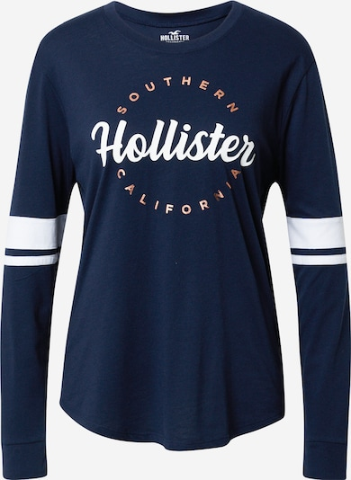HOLLISTER Тениска в нейви синьо / мед / бяло, Преглед на продукта