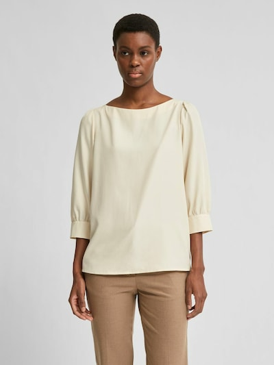 SELECTED FEMME Bluse in weiß, Modelansicht