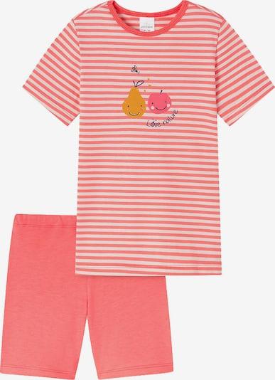 SCHIESSER Nachtkledij in de kleur Navy / Geel / Koraal / Wit, Productweergave