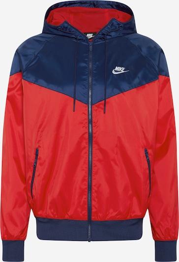 Nike Sportswear Prijelazna jakna u mornarsko plava / crvena / bijela, Pregled proizvoda