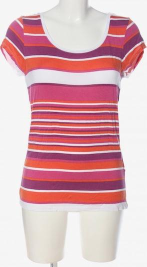 grain de malice Ringelshirt in L in hellorange / pink / weiß, Produktansicht