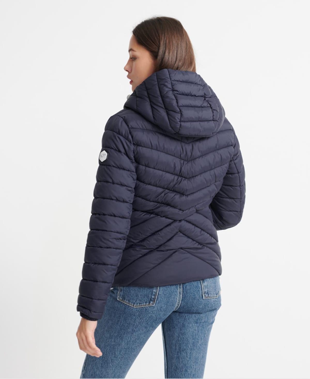 Beliebt Frauen Bekleidung Superdry Steppjacke 'Essentials Helio' in lila Zum Verkauf