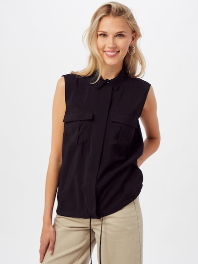 MORE & MORE Bluse in schwarz, Modelansicht