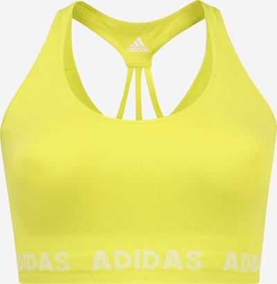 Sportinė liemenėlė iš ADIDAS PERFORMANCE , spalva - geltona / balta, Prekių apžvalga