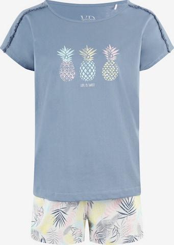 VIVANCE Short Pajama Set 'Pineapple' in Blue