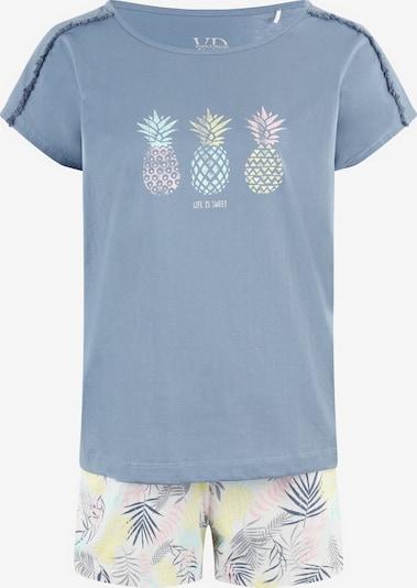 VIVANCE Pidžama ar šortiem 'Pineapple' zils / jauktu krāsu, Preces skats