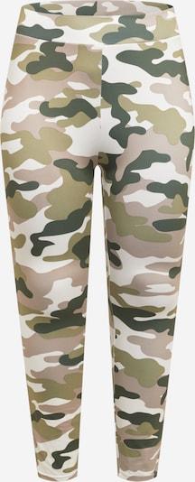 Urban Classics Curvy Leggings in de kleur Kaki / Donkergroen / Oudroze, Productweergave