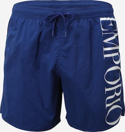 Emporio Armani Shorts de bain en bleu / blanc, Vue avec produit