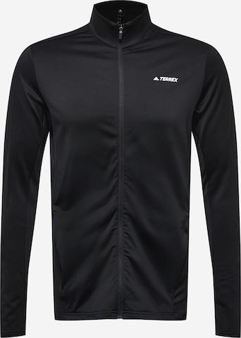 adidas Terrex Funktionele fleece-jas in Zwart