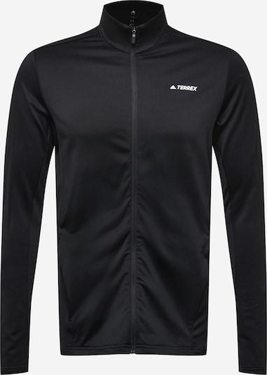 adidas Terrex Sportsweatjacke in schwarz / weiß, Produktansicht