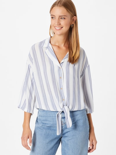 DeFacto Bluse in taubenblau / weiß, Modelansicht